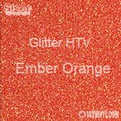 "Glitter HTV: 12"" x 5 Yard Roll - Ember Orange"