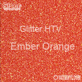 """Glitter HTV: 12"""" x 20"""" - Ember Orange"""