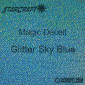 """12"""" x 24"""" Sheet - StarCraft Magic - Deceit Glitter Sky Blue"""
