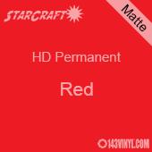 """12"""" x 24"""" Sheet - StarCraft HD Matte Permanent Vinyl - Red"""