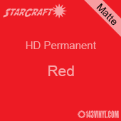 "12"" x 5' Roll - StarCraft HD Matte Permanent Vinyl - Red"