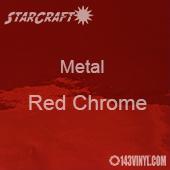 "12"" x 12"" Sheet - StarCraft Metal - Red Chrome"