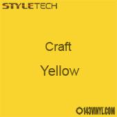 "Styletech Craft Vinyl - Yellow- 12"" x 24"" Sheet"