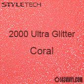 """StyleTech 2000 Ultra Glitter - 150 Coral - 12""""x24"""" Sheet"""
