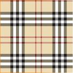 "Printed Pattern Vinyl - Beige Plaid Small 12"" x 24"" Sheet"