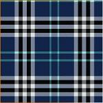 "Printed Pattern Vinyl - Blue Plaid Small 12"" x 24"" Sheet"