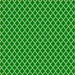 "Printed Pattern Vinyl - Green and White Small Quatrefoil 12"" x 12"" Sheet"