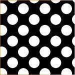 "Printed Pattern Vinyl - Black White Polka Dots 12"" x 24"" Sheet"