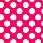 "Printed Pattern Vinyl - Very Hot Pink White Polka Dots 12"" x 12"" Sheet"