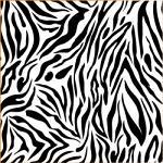 "Printed Pattern Vinyl - Black and White Zebra 12"" x 24"" Sheet"