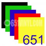 "Oracal 651 - All Colors Pack - 12"" x 12"" Sheets"