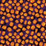 "Printed Pattern Vinyl - Jack O'Lantern Party 12"" x 24"" Sheet"