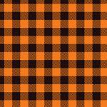 "Printed Pattern Vinyl - Orange Buffalo Plaid 12"" x 24"" Sheet"
