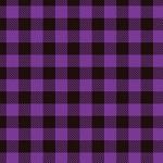 "Printed Pattern Vinyl - Purple Buffalo Plaid 12"" x 12"" Sheet"