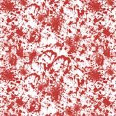 """Printed HTV Blood Splatter 12"""" x 15"""" Sheet"""