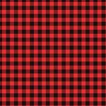 "Printed Pattern Vinyl - Small Buffalo Red Plaid 12"" x 24"" Sheet"