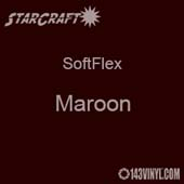 "12"" x 5 Foot Roll -StarCraft SoftFlex HTV - Maroon"