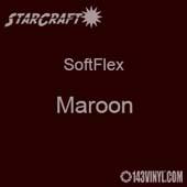 "12"" x 12"" Sheet - StarCraft SoftFlex HTV - Maroon"