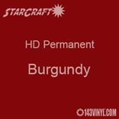 "12"" x 24"" Sheet - StarCraft HD Glossy Permanent Vinyl - Burgundy"
