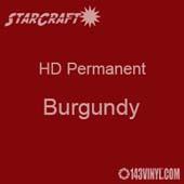 "12"" x 5' Roll - StarCraft HD Glossy Permanent Vinyl - Burgundy"