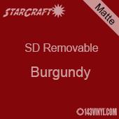 "12"" x 10 Yard Roll  -StarCraft SD Removable Matte Adhesive - Burgundy"