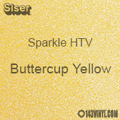 "Siser Sparkle HTV: 12"" x 24"" sheet  - Buttercup Yellow"