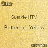 "Siser Sparkle HTV: 12"" x 12"" sheet - Buttercup Yellow"