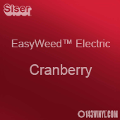 """12"""" x 15"""" Sheet Siser EasyWeed Electric HTV - Cranberry"""
