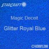 """12"""" x 12"""" Sheet - StarCraft Magic - Deceit Glitter Royal Blue"""