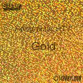 "12"" x 20"" Sheet Siser Holographic HTV - Gold"
