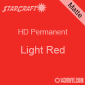 "24"" x 10 Yard Roll - StarCraft HD Matte Permanent Vinyl - Light Red"