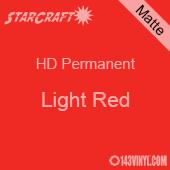 """12"""" x 12"""" Sheet - StarCraft HD Matte Permanent Vinyl - Light Red"""