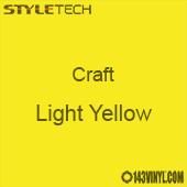 "Styletech Craft Vinyl - Light Yellow- 12"" x 24"" Sheet"