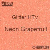 "Glitter HTV: 12"" x 5 Yard Roll - Neon Grapefruit"
