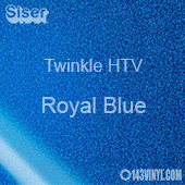 "12"" x 20"" Sheet Siser Twinkle HTV - Royal Blue"