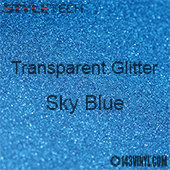 """StyleTech Transparent Glitter - Sky Blue - 12""""x24"""" Sheet"""