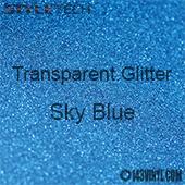 """StyleTech Transparent Glitter - Sky Blue - 12""""x12"""" Sheet"""