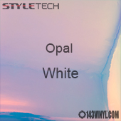 """StyleTech Opal - White - 12"""" x 12"""" Sheet"""
