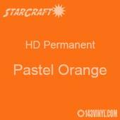 "12"" x 12"" Sheet - StarCraft HD Glossy Permanent Vinyl - Pastel Orange"