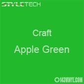 """Styletech Craft Vinyl - Apple Green- 12"""" x 24"""" Sheet"""
