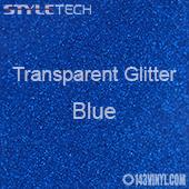 """StyleTech Transparent Glitter - Blue - 12""""x24"""" Sheet"""