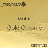 "12"" x 12"" Sheet - StarCraft Metal- Gold Chrome"