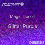 "12"" x 12"" Sheet - StarCraft Magic - Deceit Glitter Purple"