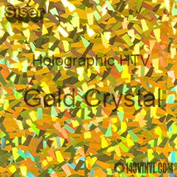 "12"" x 20"" Sheet Siser Holographic HTV - Gold Crystal"