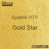 "Siser Sparkle HTV: 12"" x 24"" sheet - Gold Star"