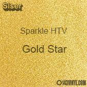 """Siser Sparkle HTV: 12"""" x 12"""" sheet - Gold Star"""