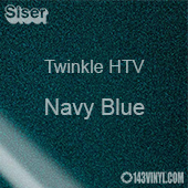 "12"" x 20"" Sheet Siser Twinkle HTV - Navy Blue"