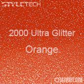 """StyleTech 2000 Ultra Glitter - 148 Orange - 12""""x24"""" Sheet"""