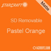 """12"""" x 12"""" Sheet -StarCraft SD Removable Matte Adhesive - Pastel Orange"""