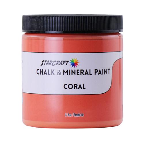 StarCraft Chalk & Mineral Paint-Sample, 8oz-Coral